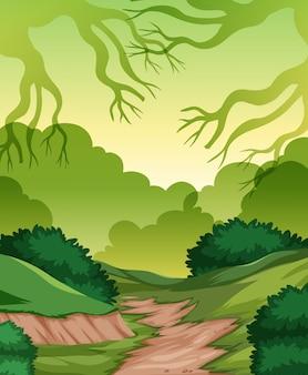 Una plantilla de naturaleza verde.