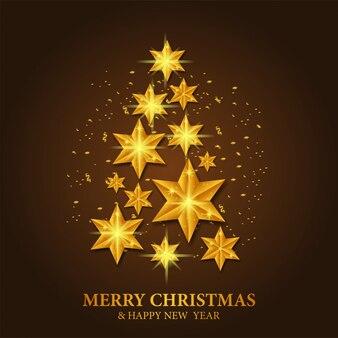 Plantilla navideña con árbol de estrella