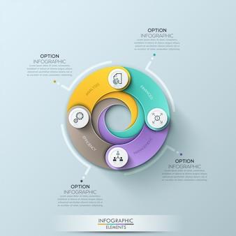 Plantilla de negocio círculo moderno