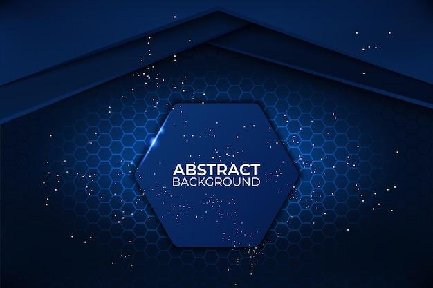 Plantilla de negocio corporativo de tecnología de diseño de fondo abstracto negro y azul