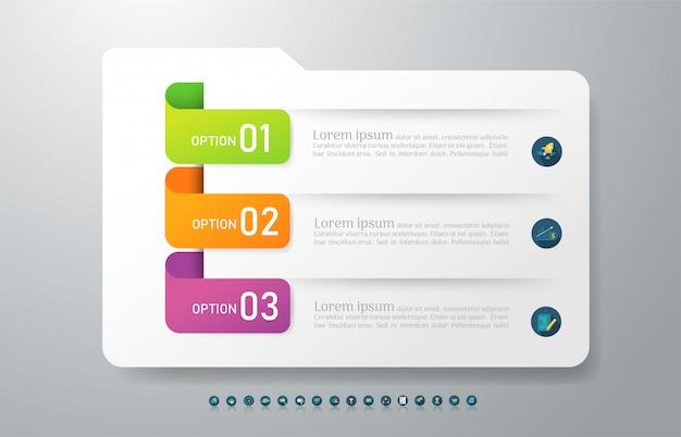 Plantilla de negocio elemento gráfico infográfico.