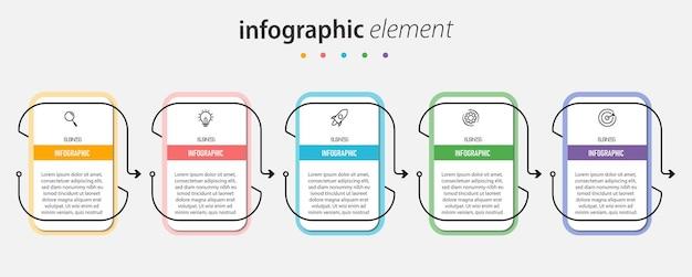 Plantilla de negocio de infografía moderna y visualización de datos