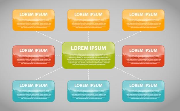Plantilla de negocio de infografía con ocho pasos