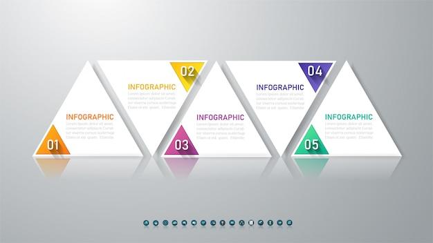 Plantilla de negocio infografía
