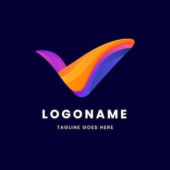 Plantilla de negocio de logotipo de marca de verificación