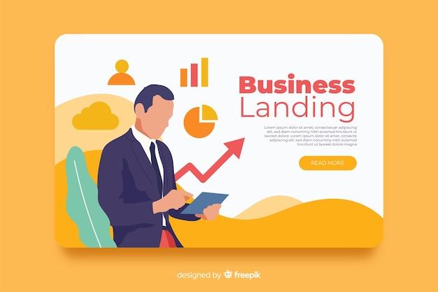 Plantilla de negocio de página de destino