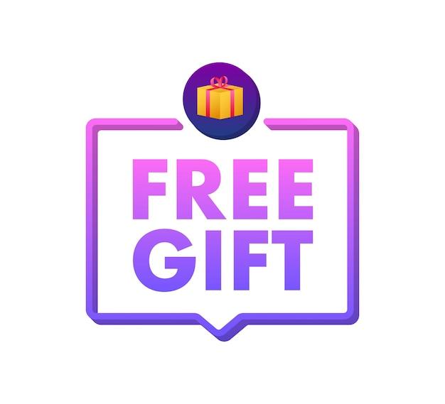 Plantilla de negocio con regalo gratis sobre fondo blanco para diseño de banner plantilla de negocio de vector