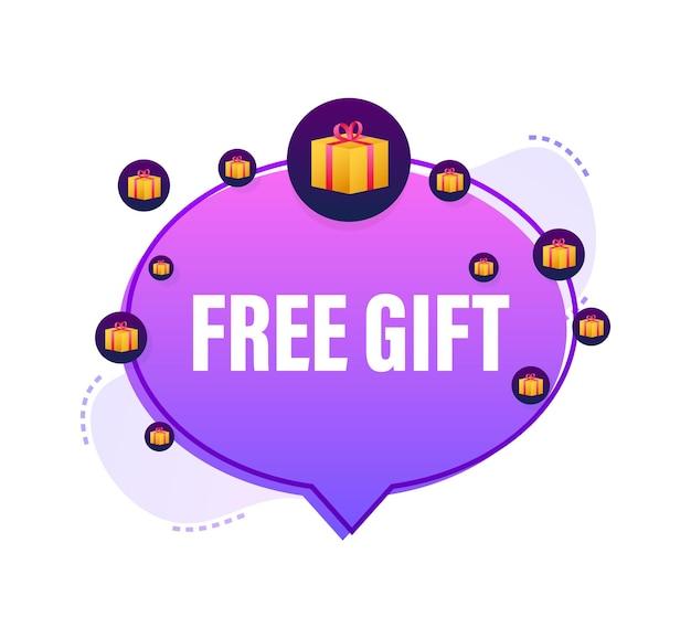 Plantilla de negocio con regalo gratis sobre fondo blanco para diseño de banner