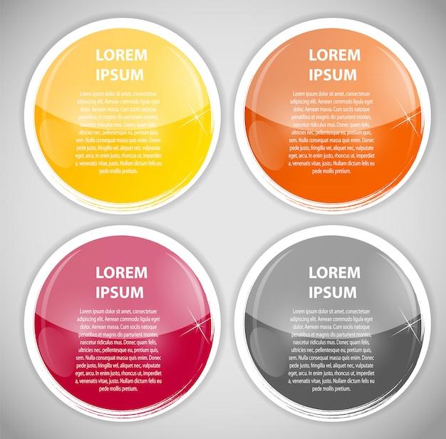 Plantilla de negocios de infografía con cuatro elementos