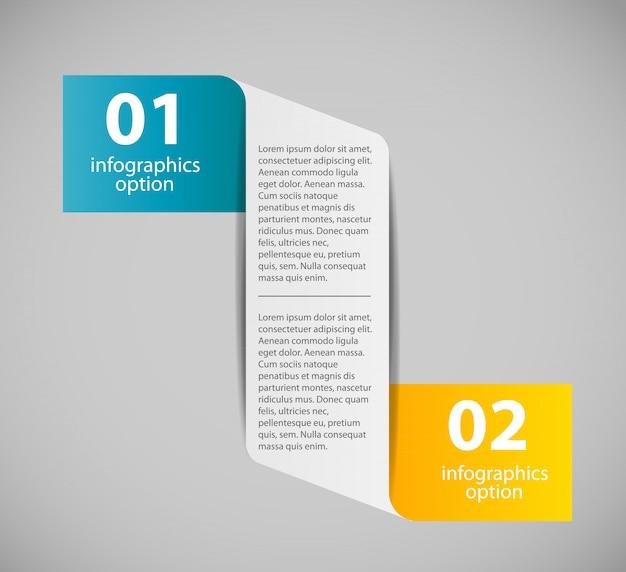 Plantilla de negocios de infografía con dos pasos