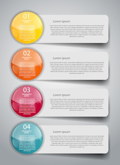 Plantilla de negocios de infografía
