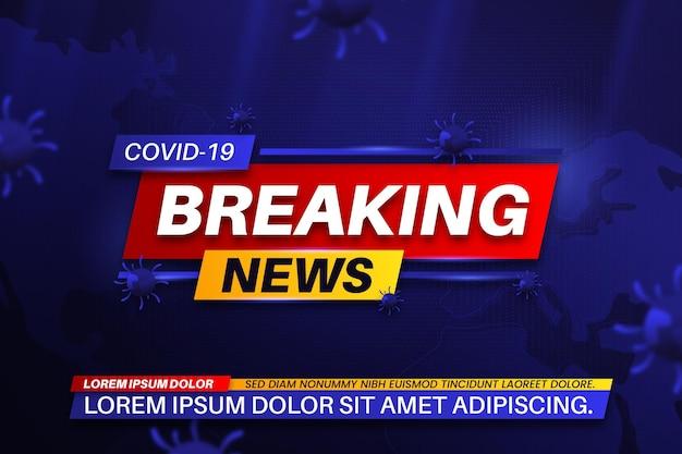 Plantilla de noticias de última hora de covid19
