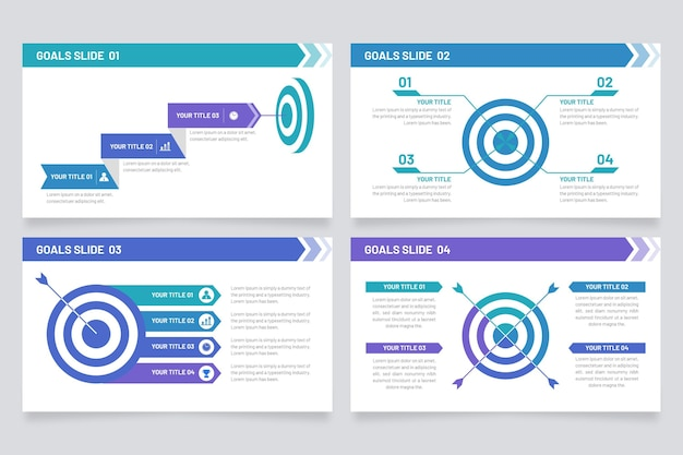 Plantilla de objetivos de infografía