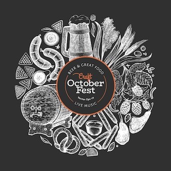 Plantilla de oktoberfest.