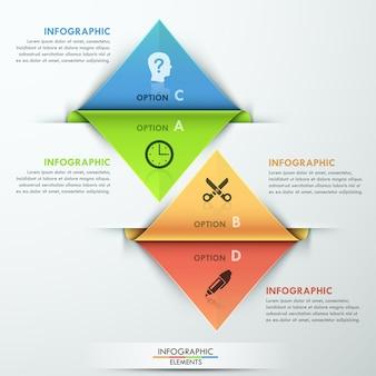 Plantilla de opción infografía moderna