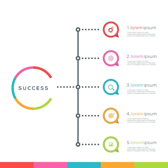 Plantilla de opciones de infografía abstracto