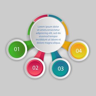 Plantilla de opciones de número de infografía abstracta