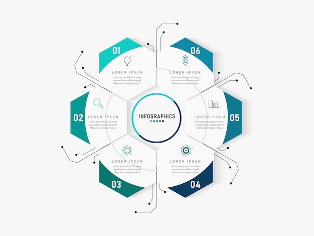 Plantilla de opciones de número de infografías modernas. ilustración. se puede utilizar para el diseño de flujo de trabajo, diagrama, opciones de pasos comerciales, banner, diseño web.