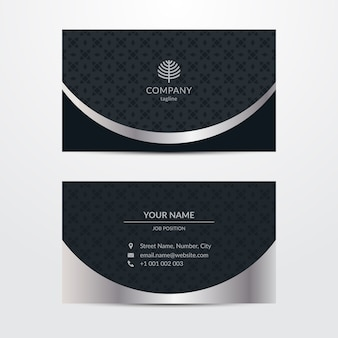 Plantilla opulenta para tarjeta de visita
