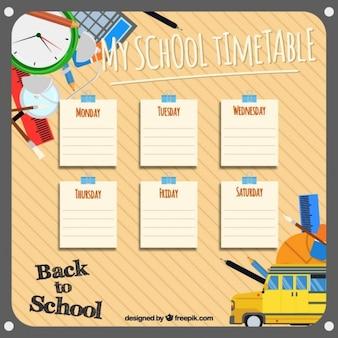 Plantilla para organizar las asignaturas escolares