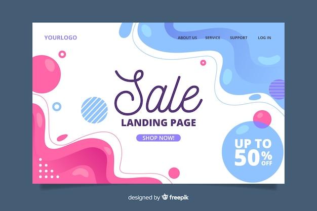 Plantilla de página de aterrizaje abstracta de ventas