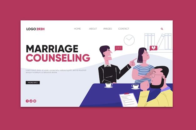 Plantilla de página de aterrizaje de asesoramiento matrimonial