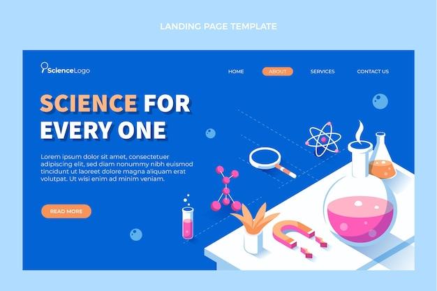 Plantilla de página de aterrizaje de ciencia plana