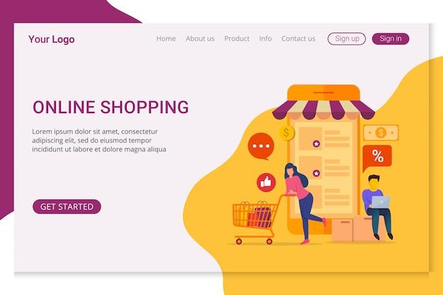 Plantilla de página de aterrizaje compras en línea