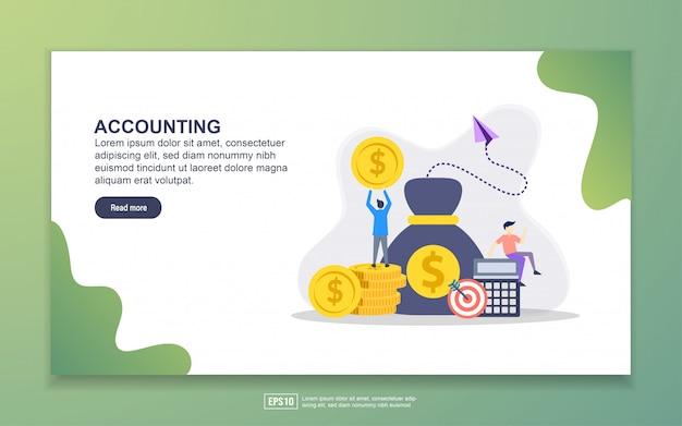 Plantilla de página de aterrizaje de contabilidad