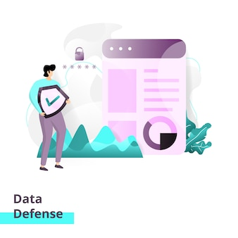 Plantilla de página de aterrizaje de data defense