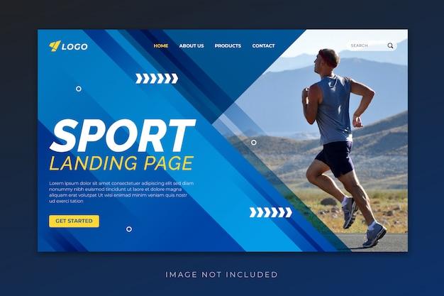 Plantilla de página de aterrizaje deportiva
