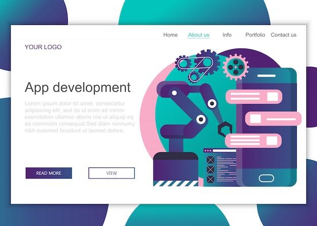 Plantilla de página de aterrizaje para el desarrollo de aplicaciones