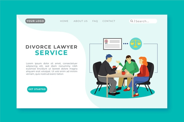 Plantilla de página de aterrizaje de divorcio