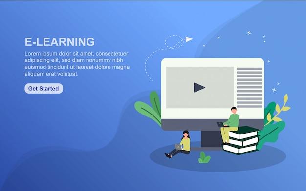 Plantilla de página de aterrizaje de e-learning
