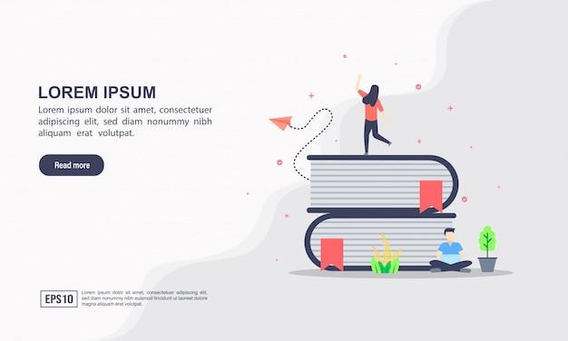 Plantilla de página de aterrizaje de educación en línea
