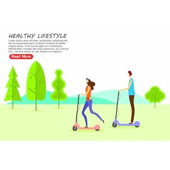 Plantilla de página de aterrizaje estilo de vida saludable