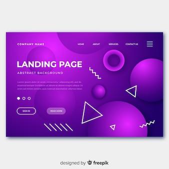Plantilla de página de aterrizaje de formas geométricas abstractas