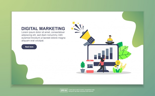 Plantilla de página de aterrizaje de marketing digital