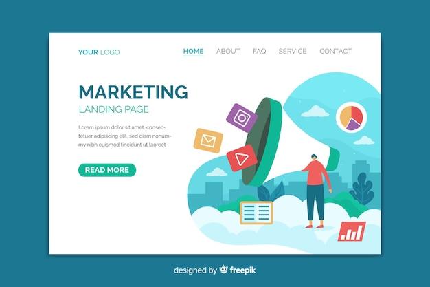 Plantilla de página de aterrizaje para marketing