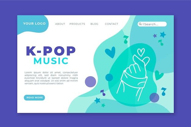 Plantilla de página de aterrizaje de música k-pop