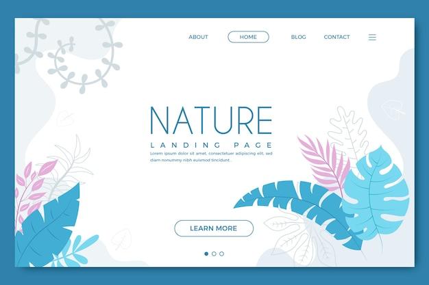 Plantilla de página de aterrizaje de nature