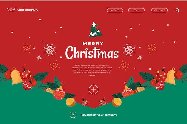 Plantilla de página de aterrizaje de navidad