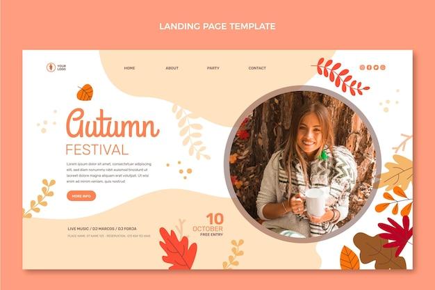 Plantilla de página de aterrizaje plana de otoño