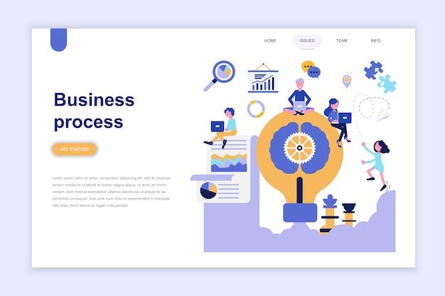 Plantilla de página de aterrizaje del proceso de negocios