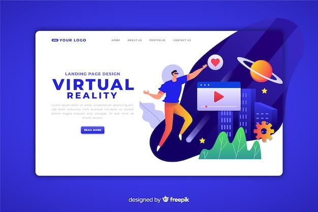 Plantilla de página de aterrizaje de realidad virtual
