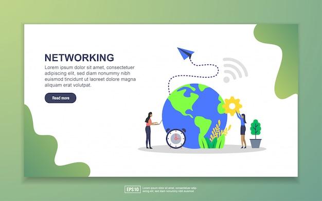 Plantilla de página de aterrizaje de redes