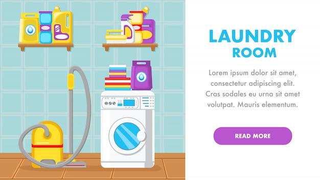 Plantilla de página de aterrizaje del servicio de limpieza de la casa