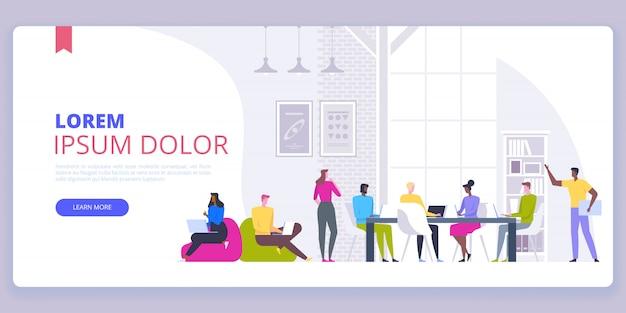 Plantilla de página de aterrizaje de startup business concept