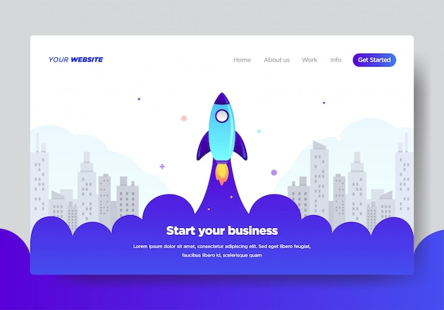 Plantilla de página de aterrizaje de startup business