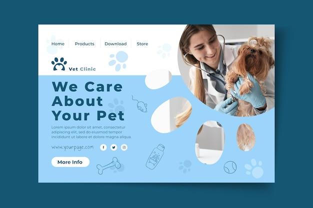 Plantilla de página de aterrizaje veterinaria